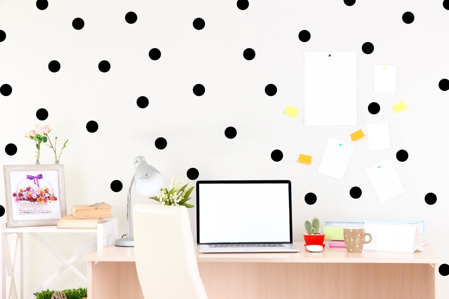 Pictures of every single item we own - Man Vs. Debt Pictures of polka dot walls