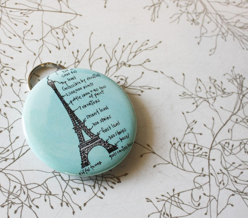 items similar to eiffel tower keychain bottle opener on etsy. Black Bedroom Furniture Sets. Home Design Ideas