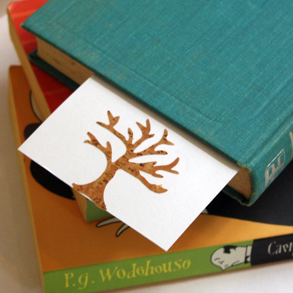 Cork Tree Bookmarks/Notecards - Set of 4