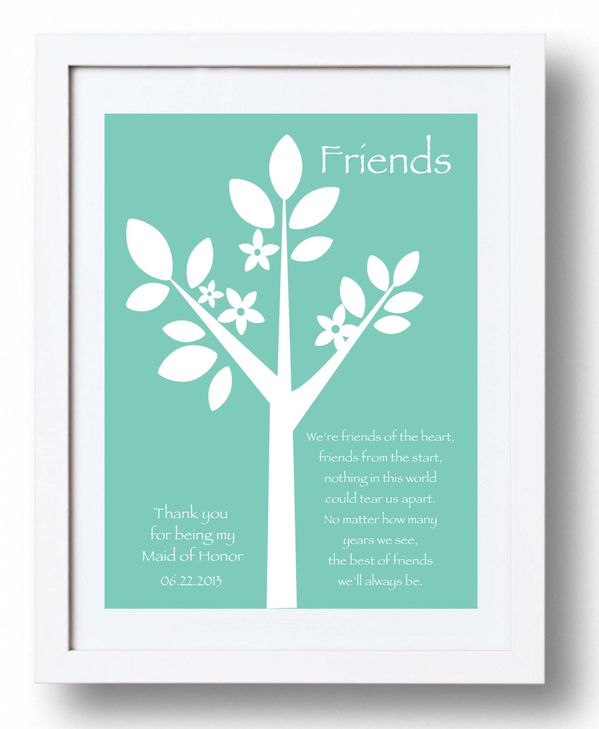 Maid of Honor Gift -Wedding Gift from Bride- Gift for Best Friend- Can ...