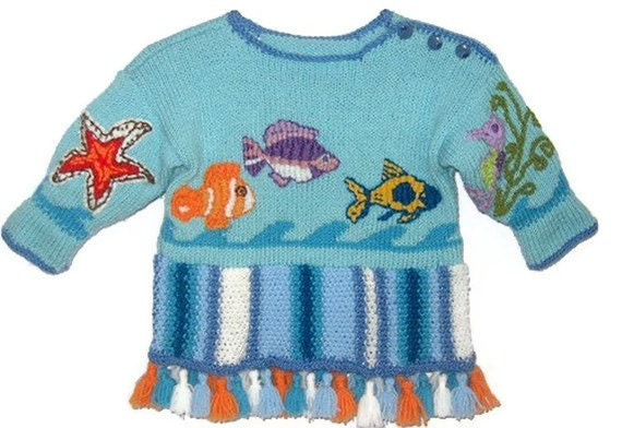 SCUBADIVE - Unisex Children Sweater/ Children Tunic, Kid Sweater/ Toddler Sweater, 2 to 4 years by Solandia