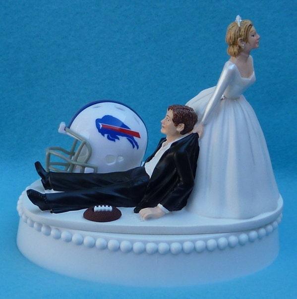 Items Similar To Wedding Cake Topper Buffalo Bills Football Themed W Garter Display Box On Etsy