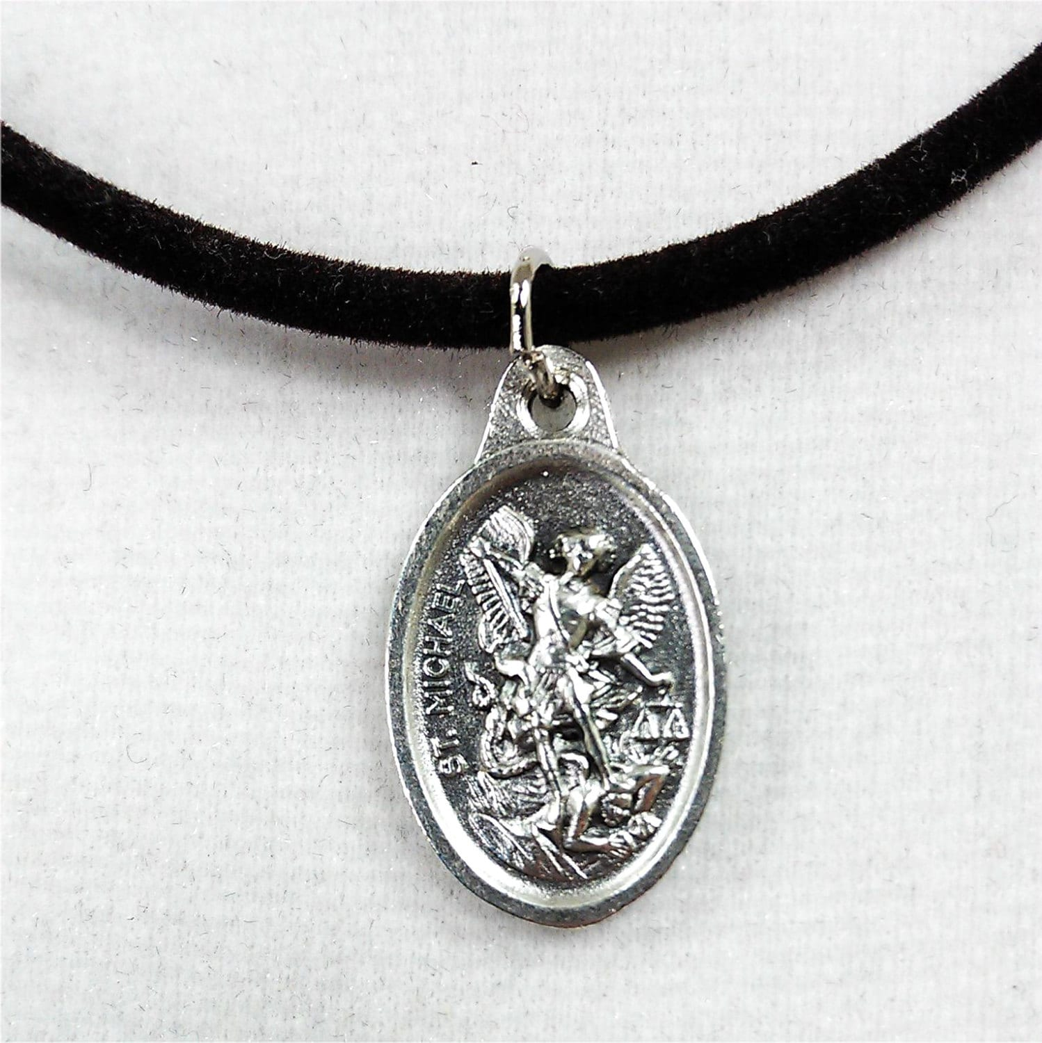 protection necklace st michael archangel pendant 18 by