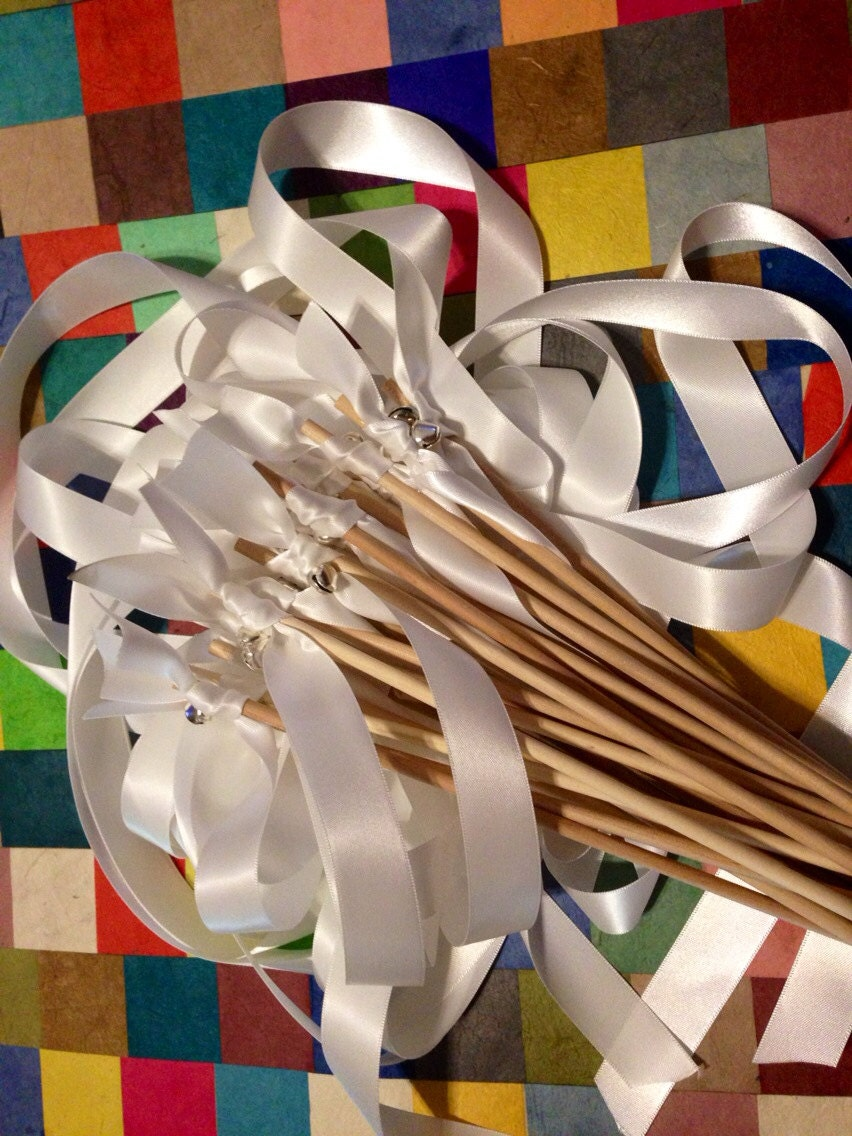 Knot Wedding Ribbon Wands in YOUR COLORS with BELLS - Colorful wedding ...