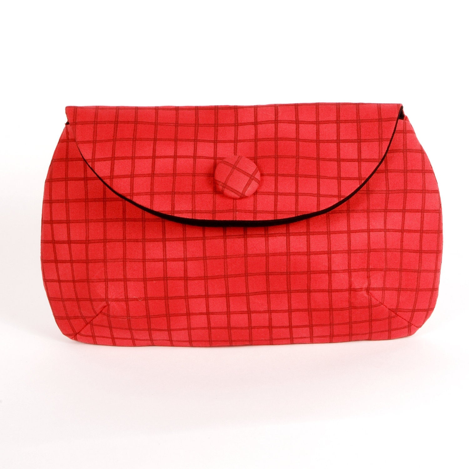 Red check print clutch purse - mincdesign