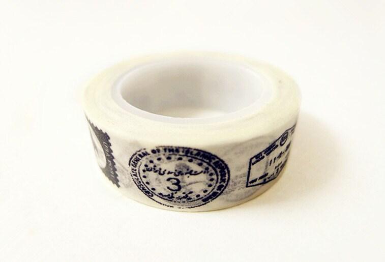 Washi Tape - Postmark Pattern (10m)