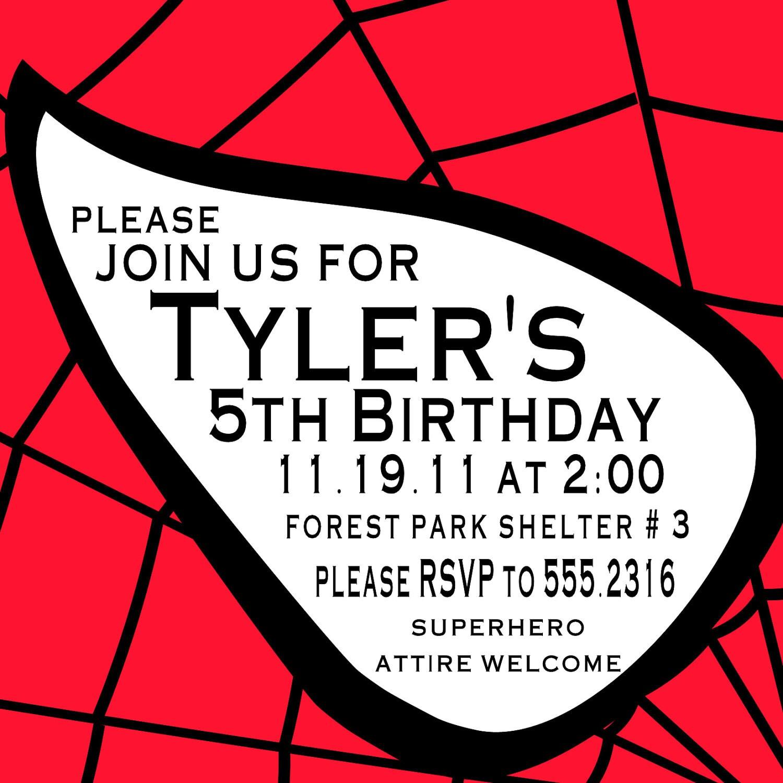 Spider Man Birthday Invitations with luxury invitation ideas