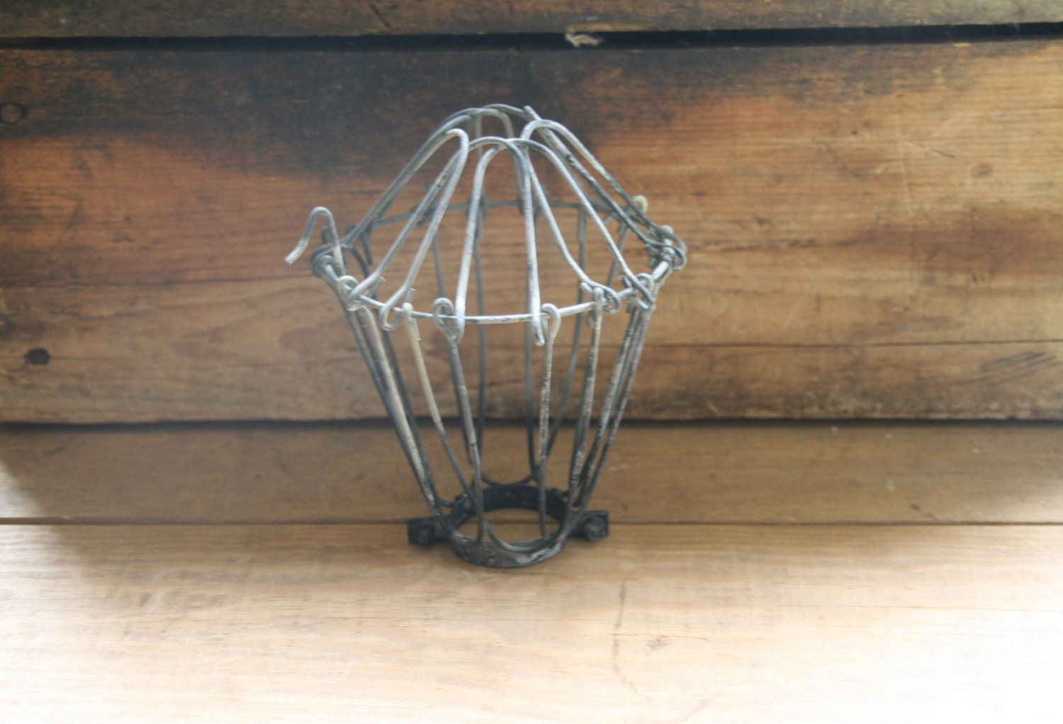 aged vintage style industrial wire cage guard by. Black Bedroom Furniture Sets. Home Design Ideas