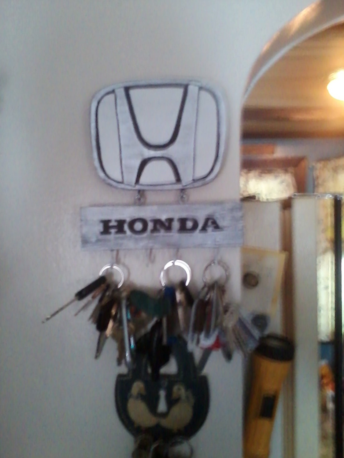 Http Www Etsy Com Listing 157964453 Home Decor Honda Key Chain Holder Home