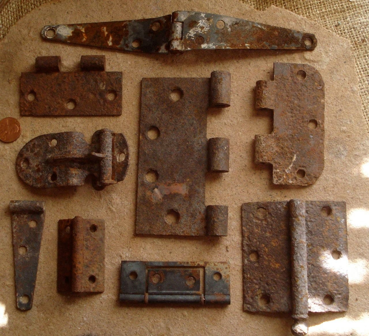 Rust Metal Assorted HInges Found Objects for by ...