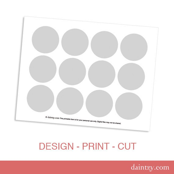Instant Download: Cupcake Topper Printable Template by daintzy