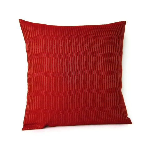 Throw Pillow Cover Burnt Orange Home Decor by GigglesOfDelight