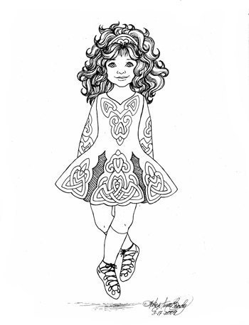Irish dance coloring coloring pages for Irish dance coloring pages