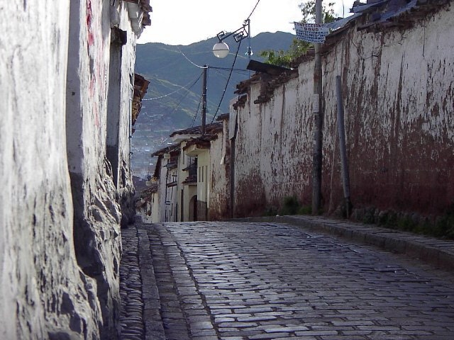 Cuzco Peru cobblestone street, Peruvian Fineart Photography for any decor - baublesNwhatnots