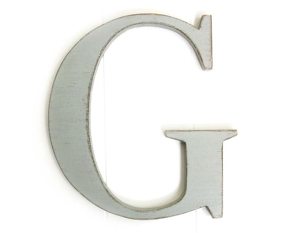 Custom color wall letter g wood sign decor cottage by for Letter g wall decor