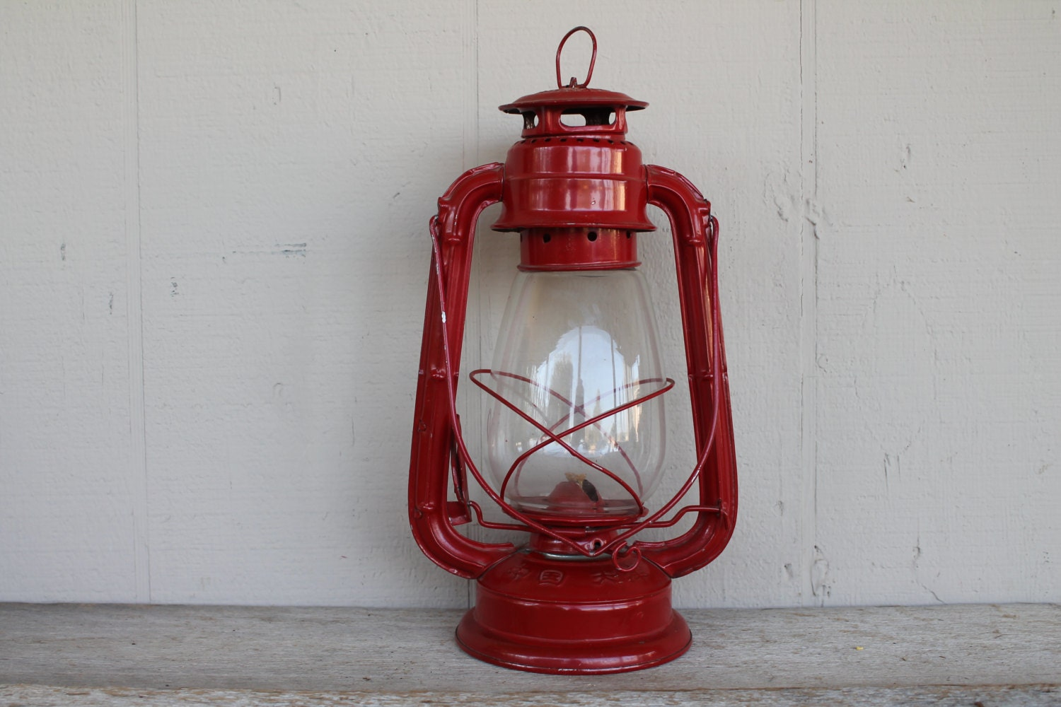 Red Vintage Everbright Camping Lantern 202 - VintageSilverLining
