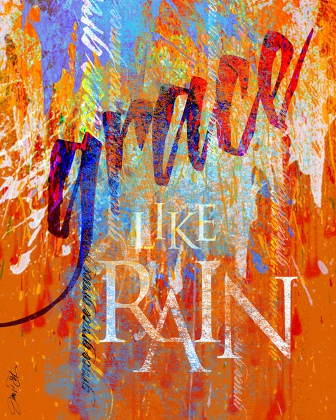 Grace like rain art painting artist signed by inspireuart for Art sites like etsy