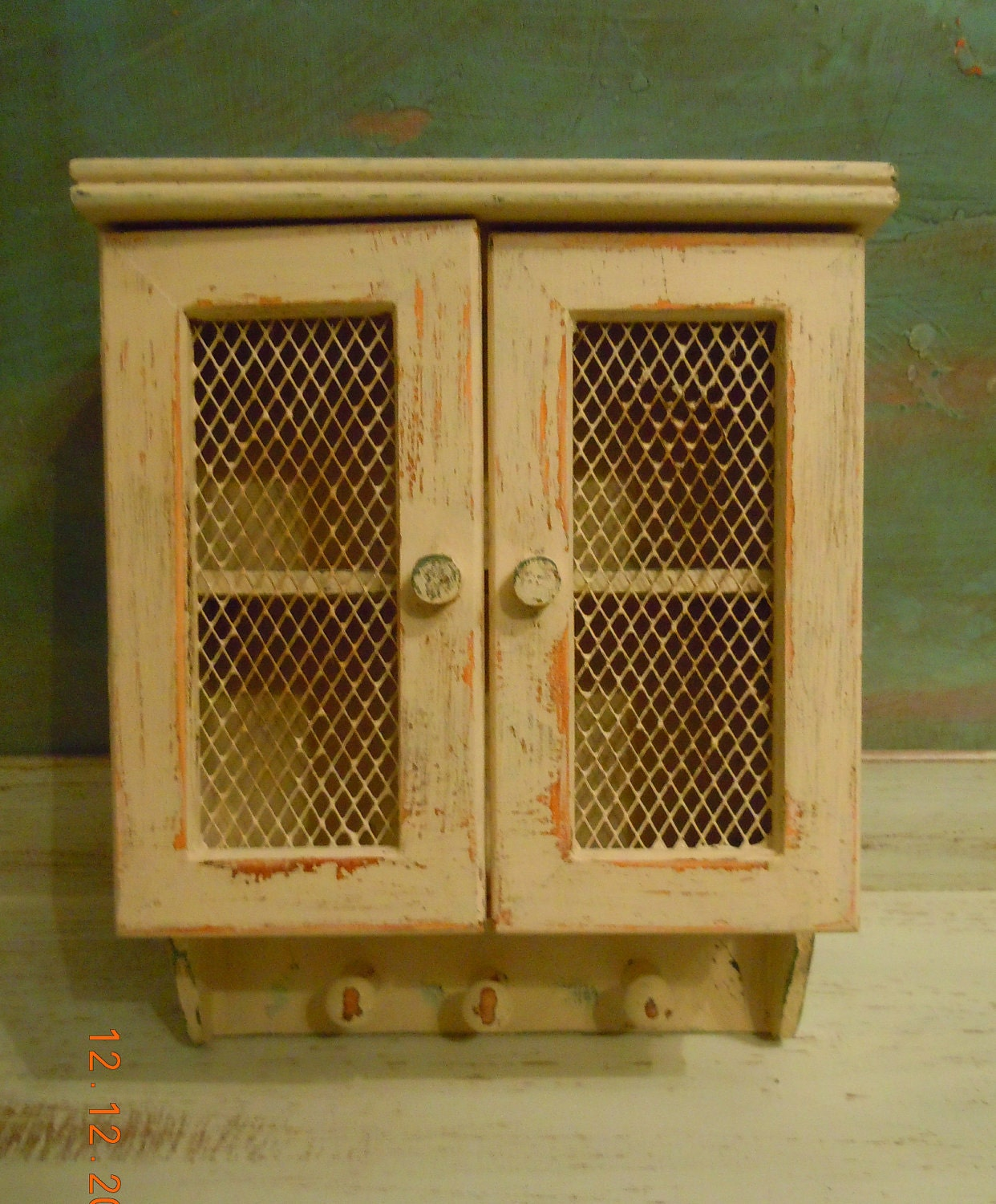 UPcycled Vintage 3 Peg Wood Cabinet By VintageChichibean On Etsy. Full resolution  image, nominally Width 1242 Height 1500 pixels, image with #C74F04.