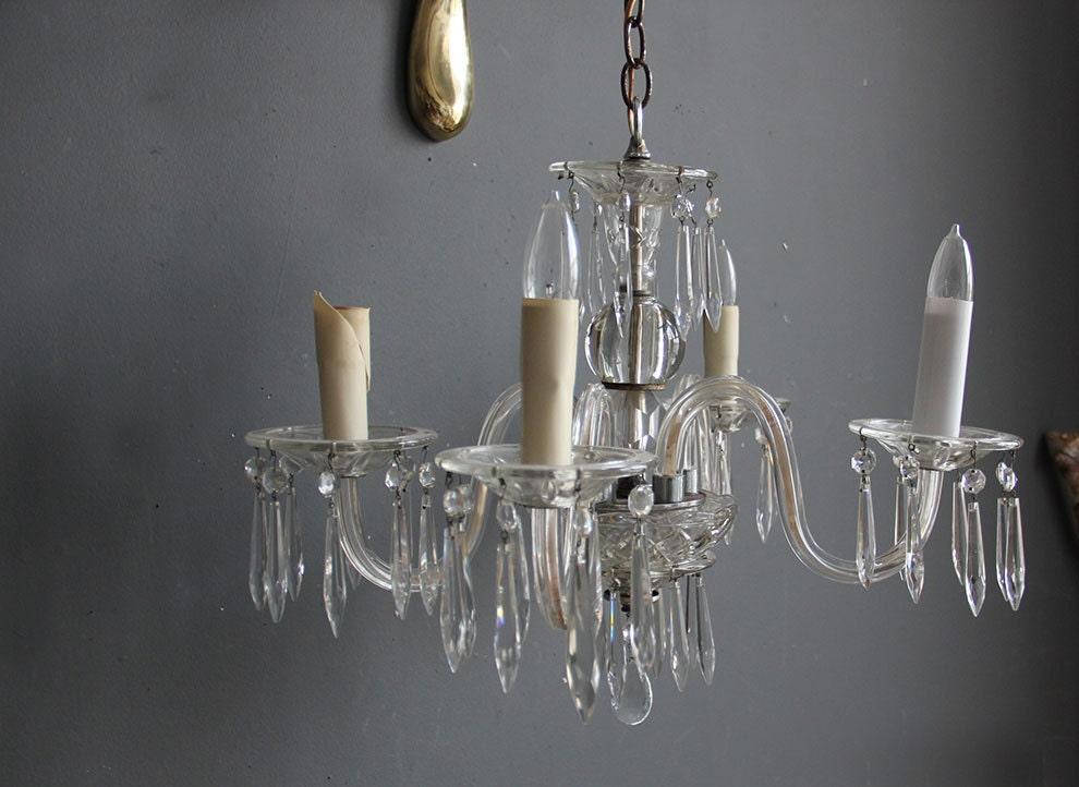 Vintage Venetian Glass Chandelier - OceanSwept