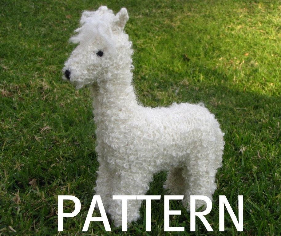 Waldorf Toy, Alpaca Toy Knitting Pattern, PDF