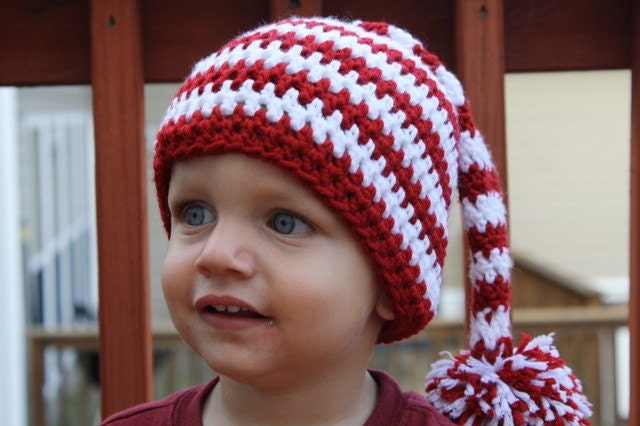 PDF Pattern for Crocheted Stocking Hat Size by TheWigglyBridge