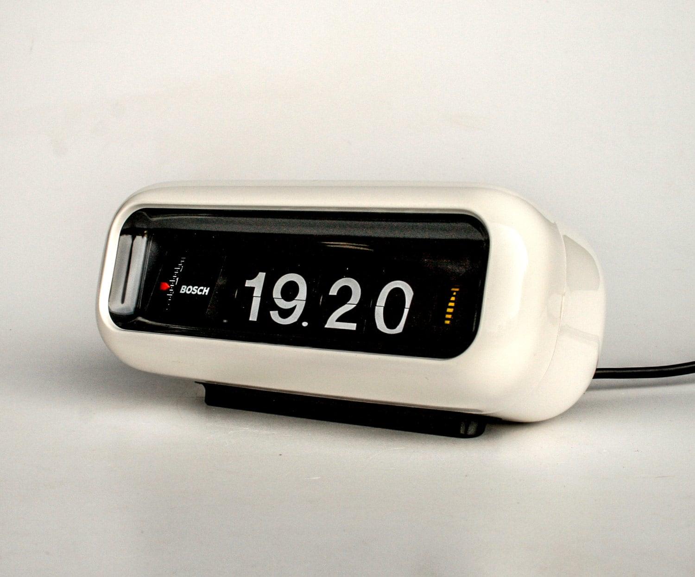 Vintage Flip Clock Alarm Clock / Bosch UDW2 By .