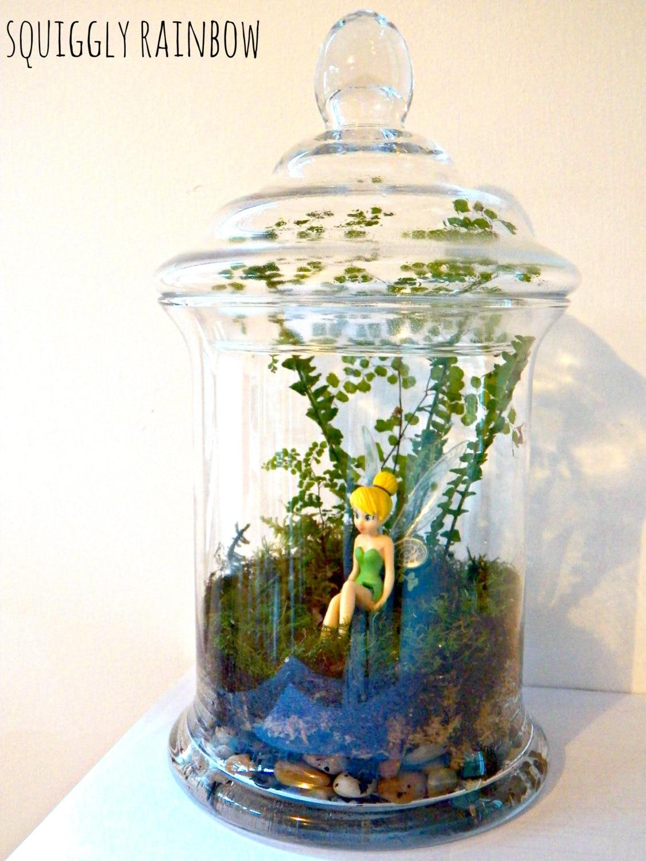 terrarium mini miniature garden jar tinkerbell fairy rainbow