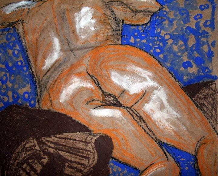 Mixed Media Nude 2000 Print