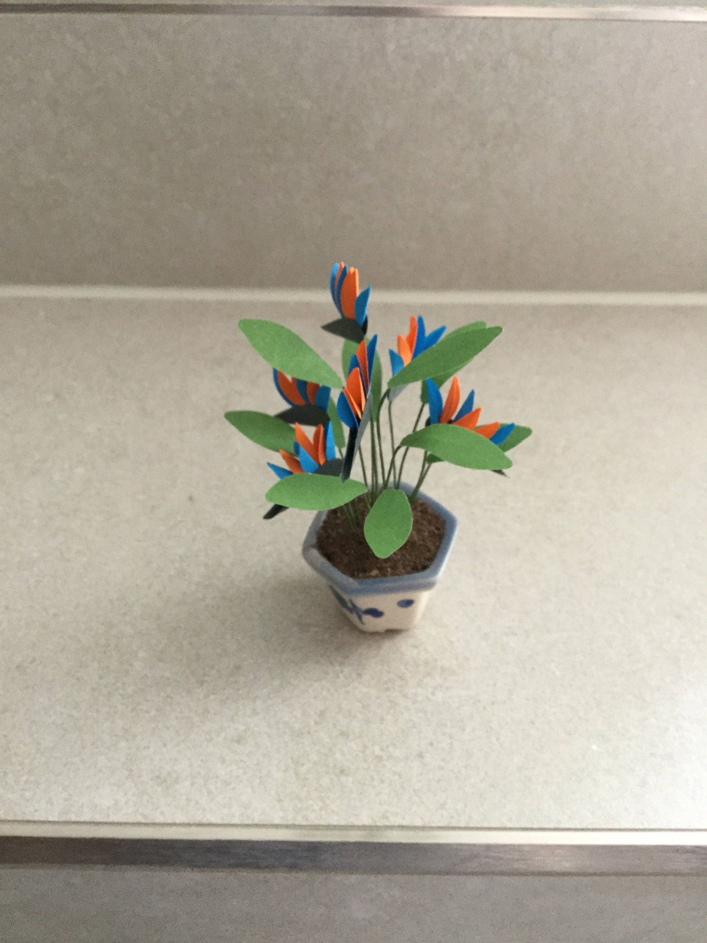 Dolls House Flowers 112th Scale Bird of Paradise Miniature Plant Dolls House Plant