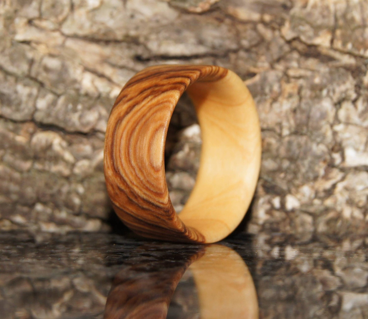 Size 9 - Olive wood ring