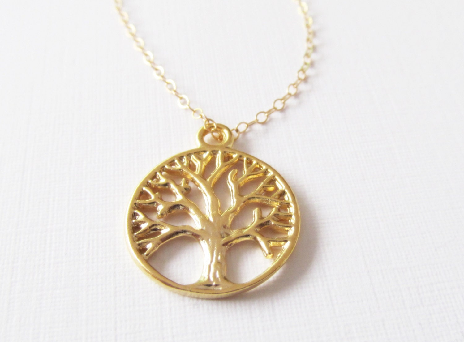 Tree of Life Necklace, 14kt Gold Filled Necklace, Gift for Her