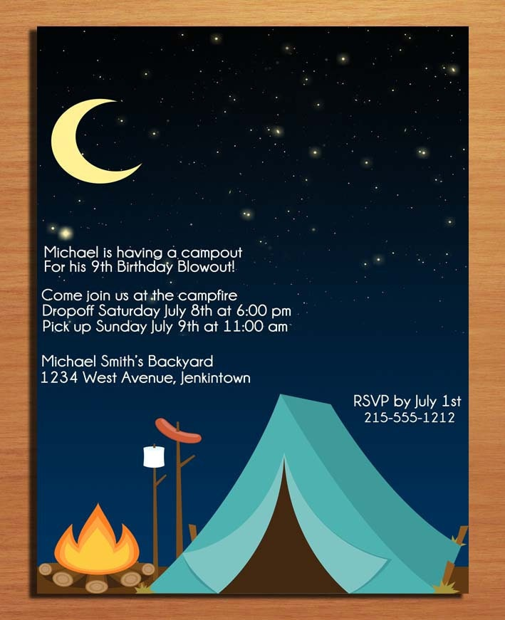 Camping Invitation Template