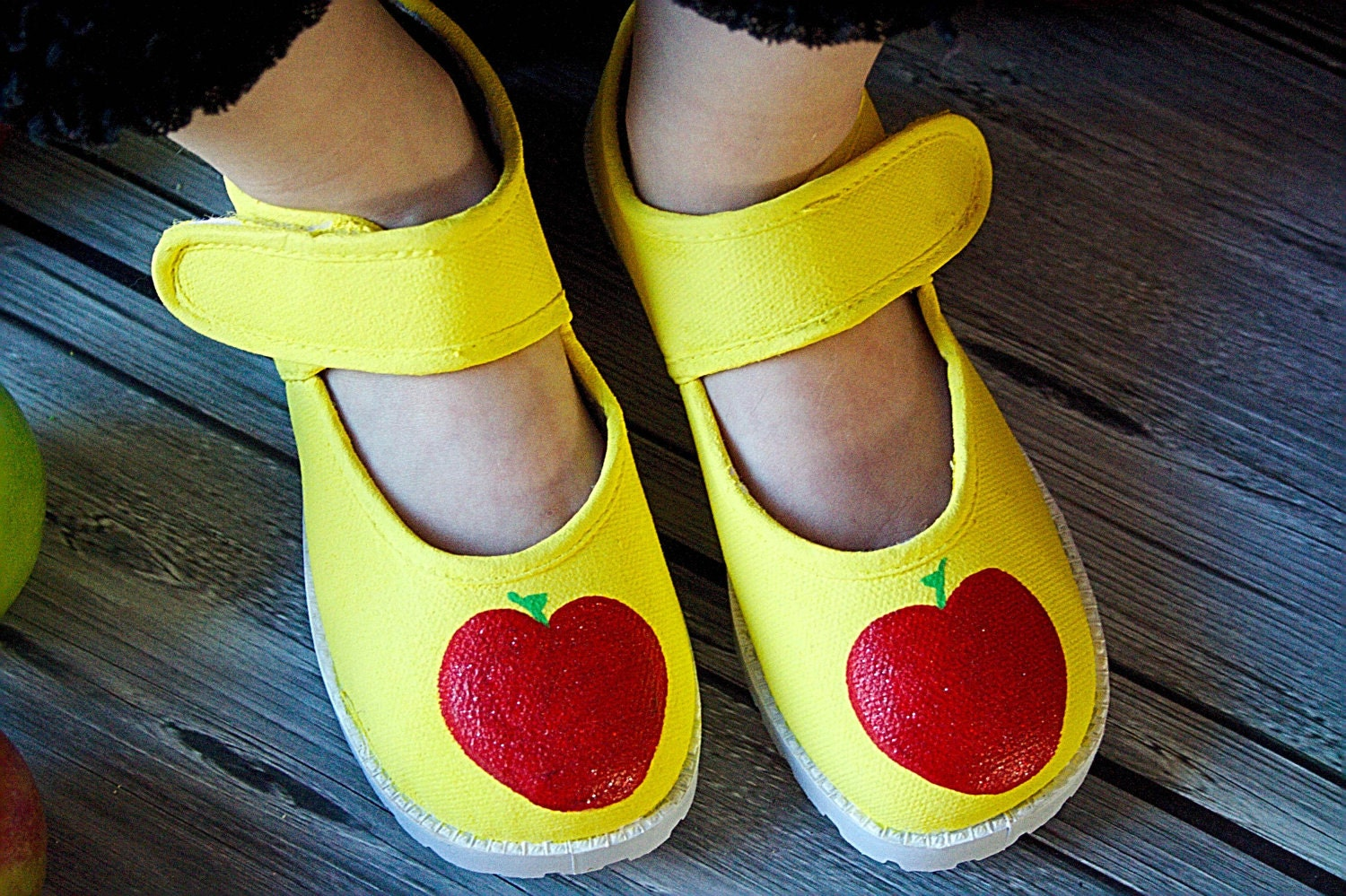 items similar to snow white apple shoes fully