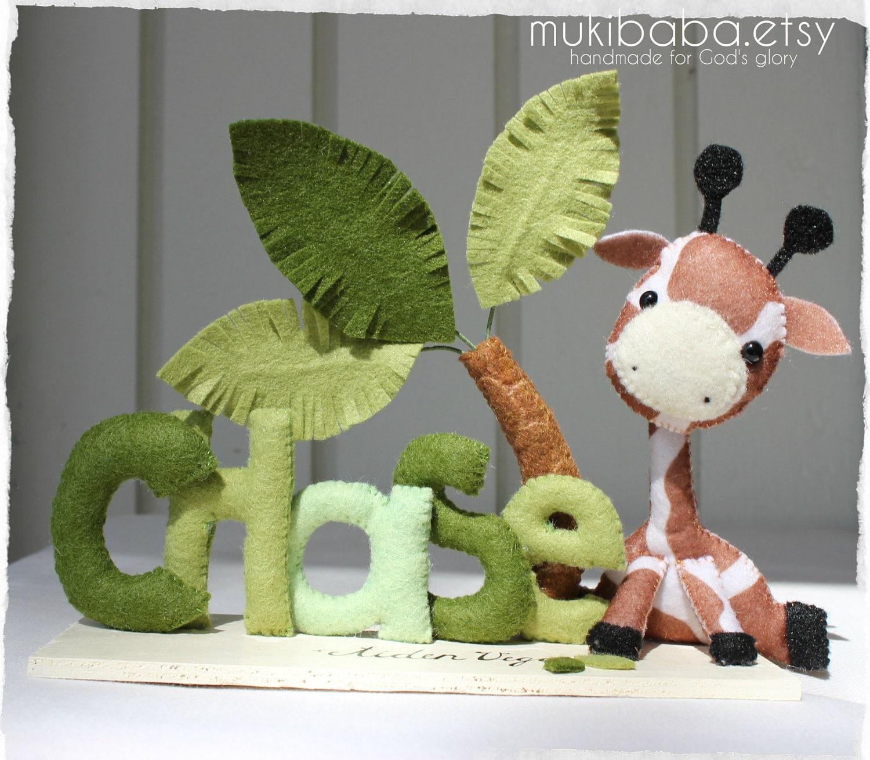 CUSTOM NAME SAFARI custom kid's decor personalized by mukibaba