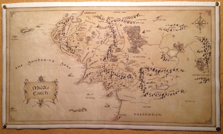 keskimaan kartta