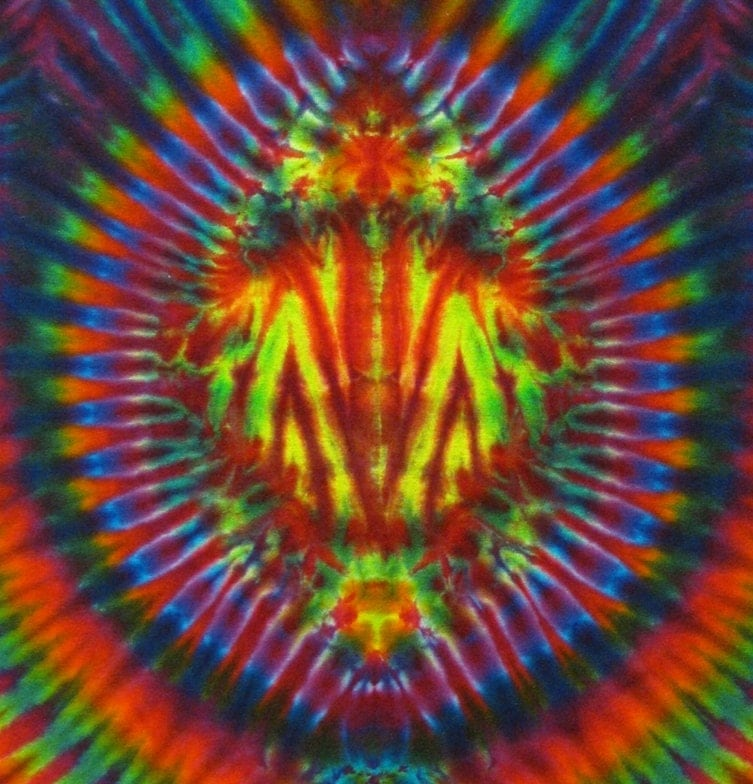 tie dye t shirt psychedelic scarab trippy blue by bigbluedyes