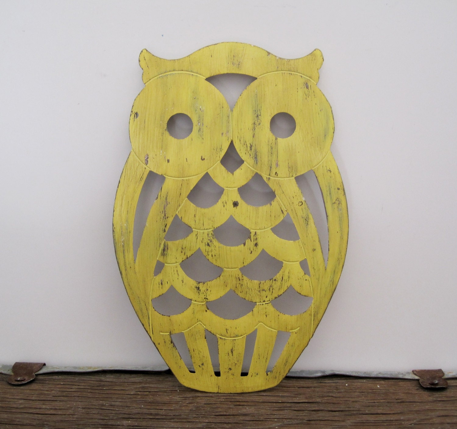 Vintage Owl Kitchen Decor: Rustic Owl Trivet Vintage Home Decor By SeaLoveAndSalt On Etsy