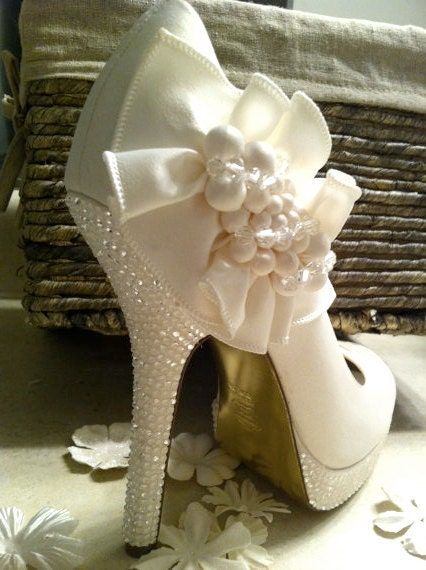 to ivory wedding shoes swarovski rhinestone bridal shoes on etsy