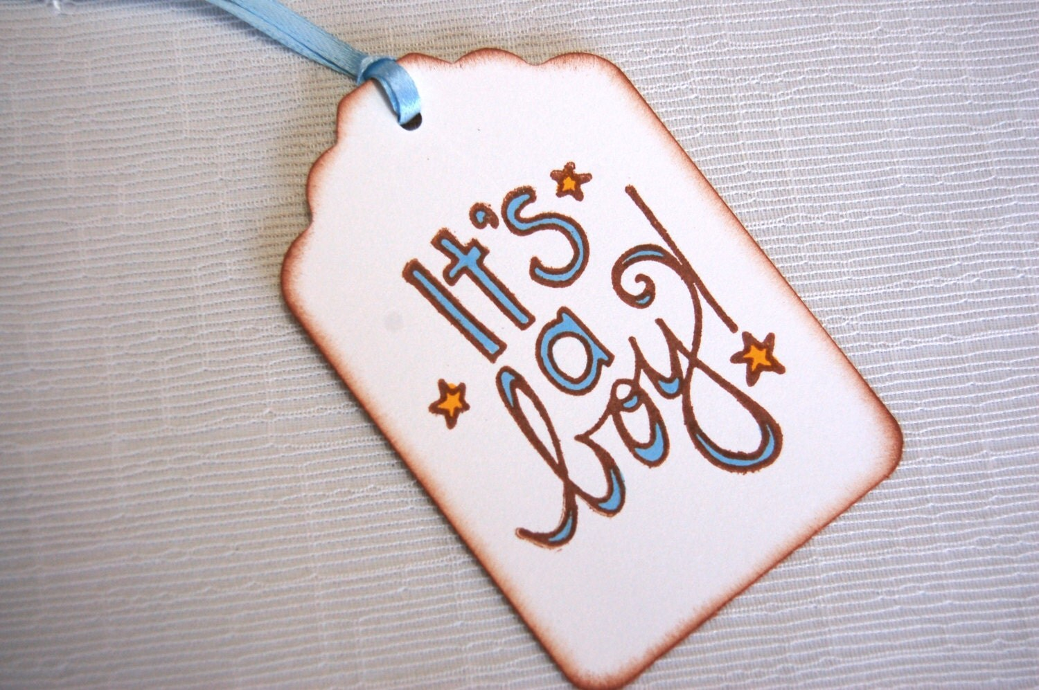 New Baby Boy Gift Tag : New baby boy tags it s a set of gift by paperthyme