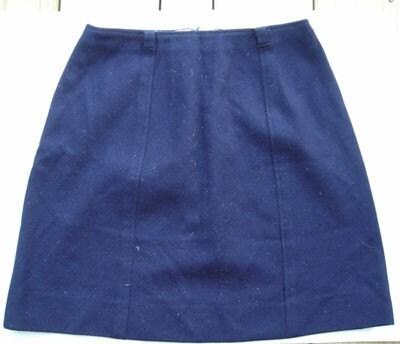 vintage navy blue wool school skirt by