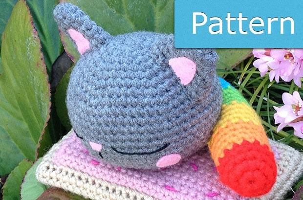Nyan Cat Amigurumi Free Pattern : Nyan Cat PDF Amigurumi Crochet Pattern by GeekChicurumi on ...
