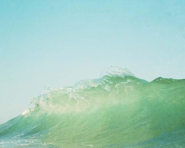 SALE Splash, Ocean Wave Photograph, Summer, Sea Green, Ocean, Sea Wall Art, California Beach, Surf, Wave Photograph, 8x10 - BreeMadden