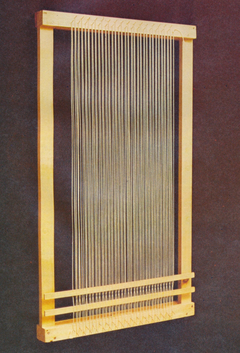 constructing a weaving tapestry frame loom by craftypatternsforyou