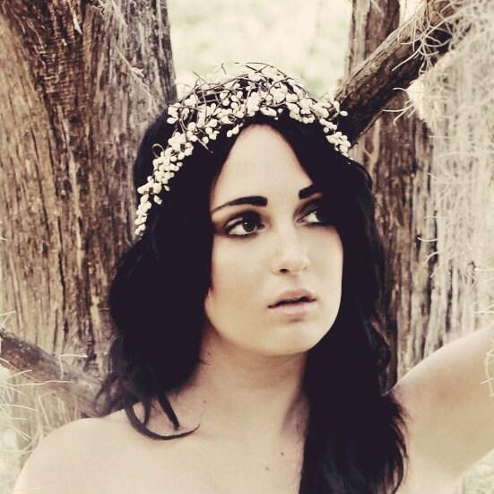 woodland crown 'TWIGGY' bridal headpiece, wedding accessory