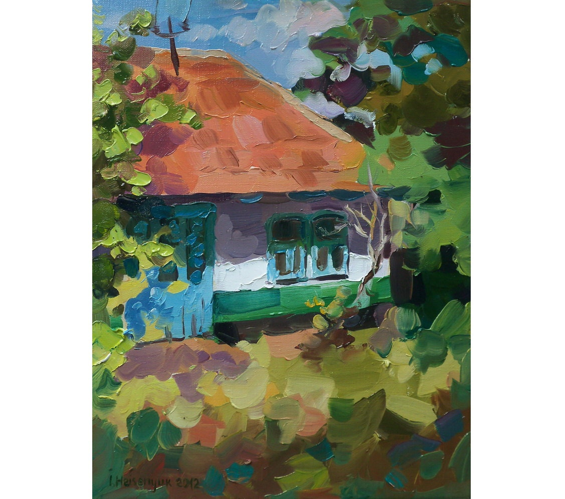 Original Oil Painting of home 157'' x 118'' by MissBlackEyes