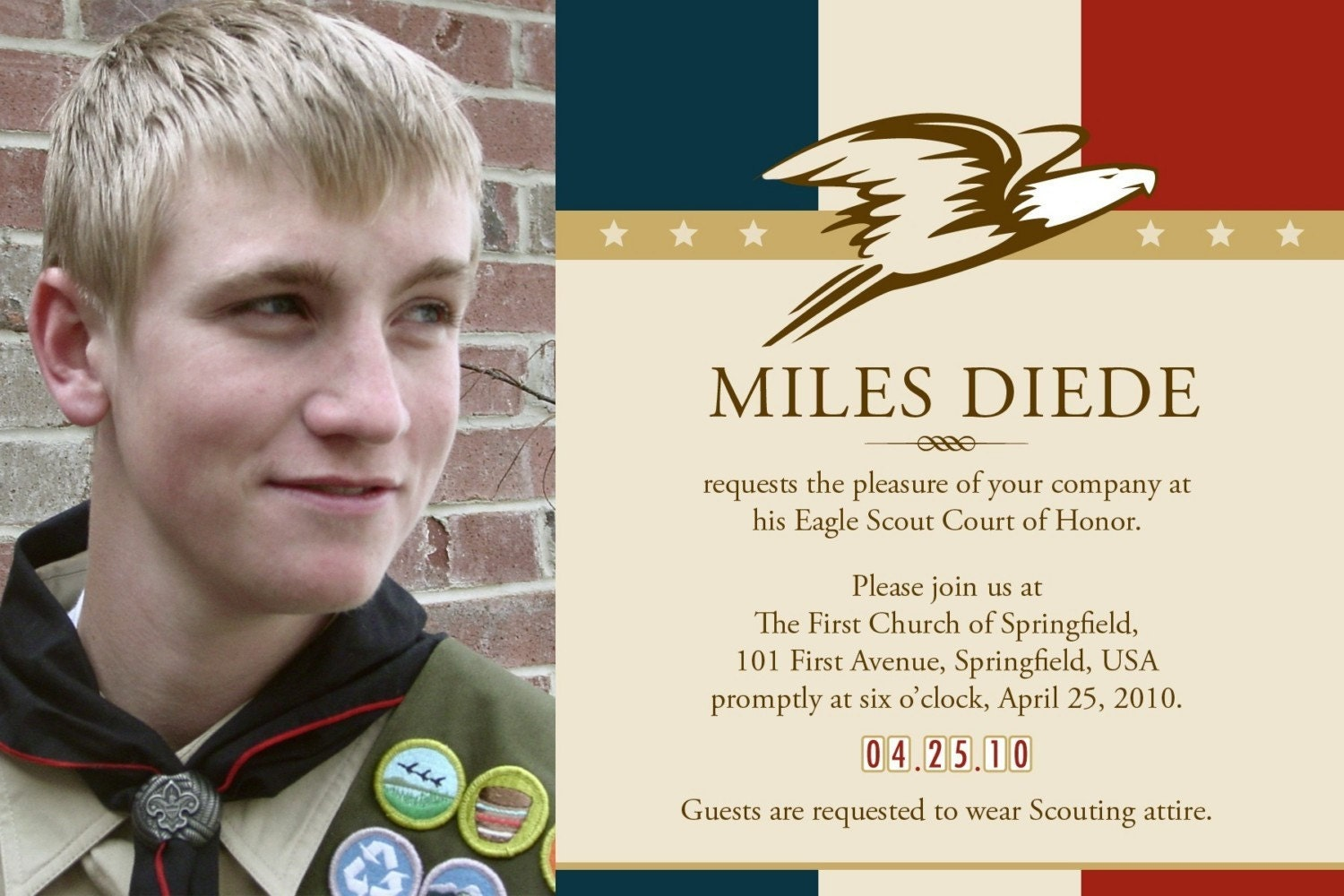 Eagle Scout Invitations - Paper Greeting.