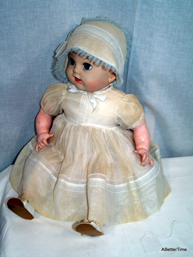 Effanbee Baby Cuddle Up Cry Doll Vintage By Abettertime On
