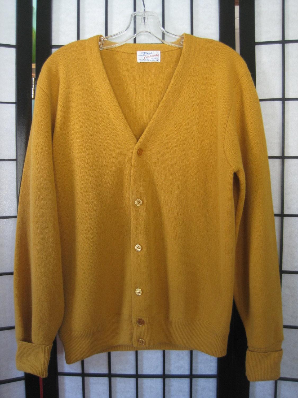 Mens Orange Sweater