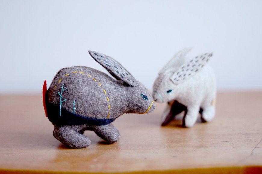 mountain hare - soft sculpture animal