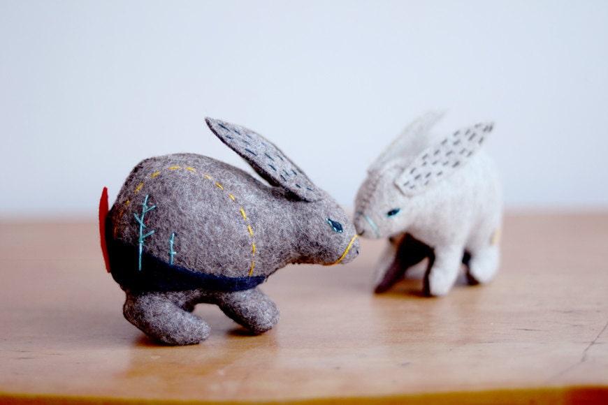 mountain hare - soft sculpture animal